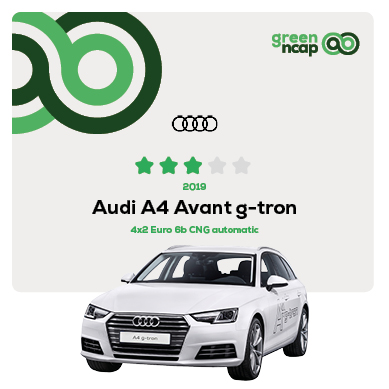 Audi A4 Avant g-tron - Green NCAP Results July 2019