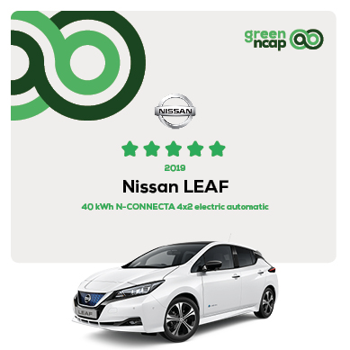 Nissan LEAF - Green NCAP Results July 2019 - 5 stars
