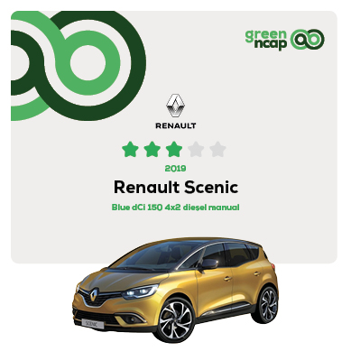 Renault Scenic - Green NCAP Results July 2019 - 3 stars