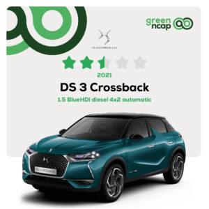 DS 3 Crossback - Green NCAP Results 2021 - 30 September - 2,5 stars