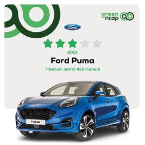 Ford Puma - Green NCAP Results 2021 - 30 September - 3 stars