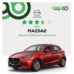 MAZDA2 - Green NCAP Results 2021 - 30 September - 3,5 stars