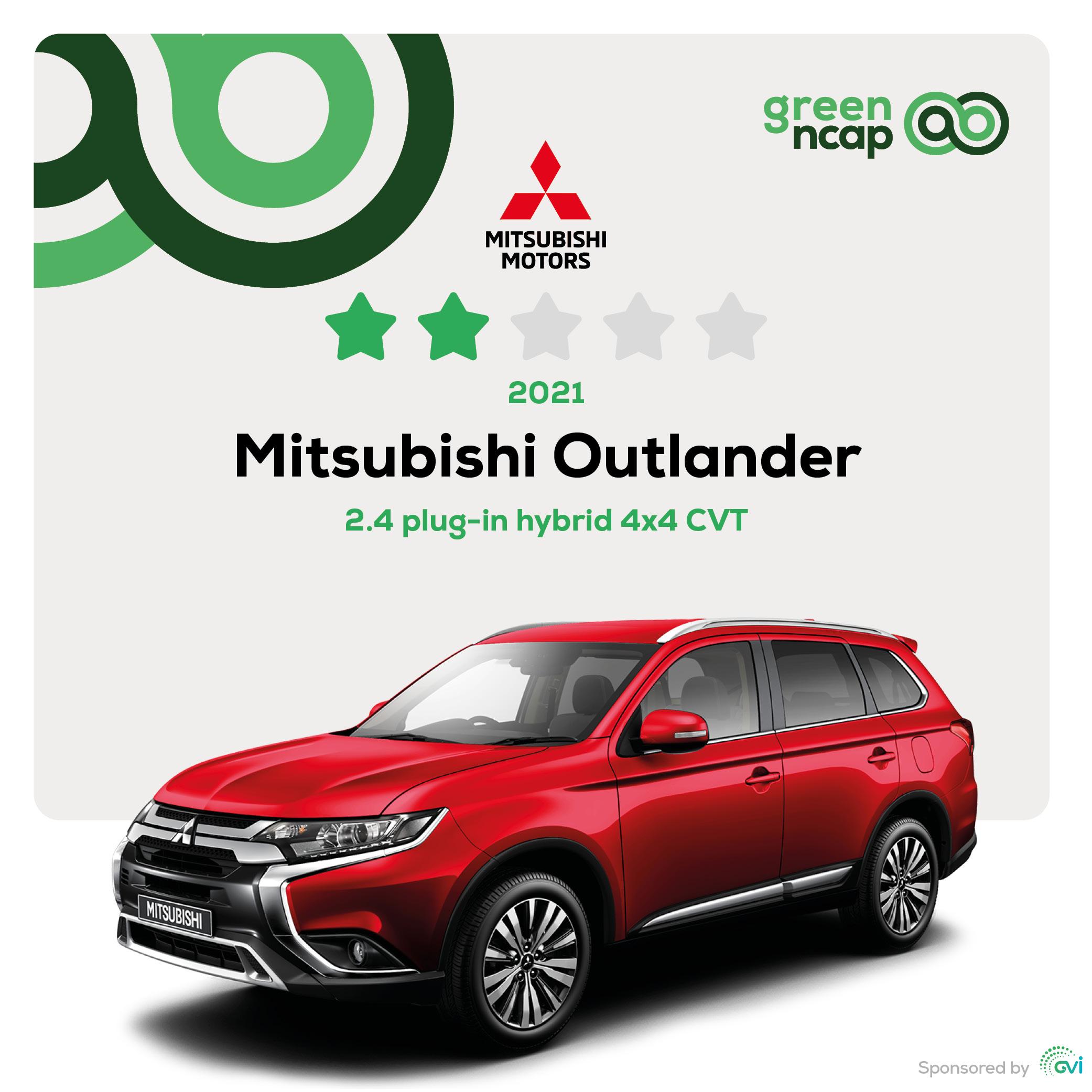Mitsubishi Outlander - Green NCAP Results February 2021 - 2 stars
